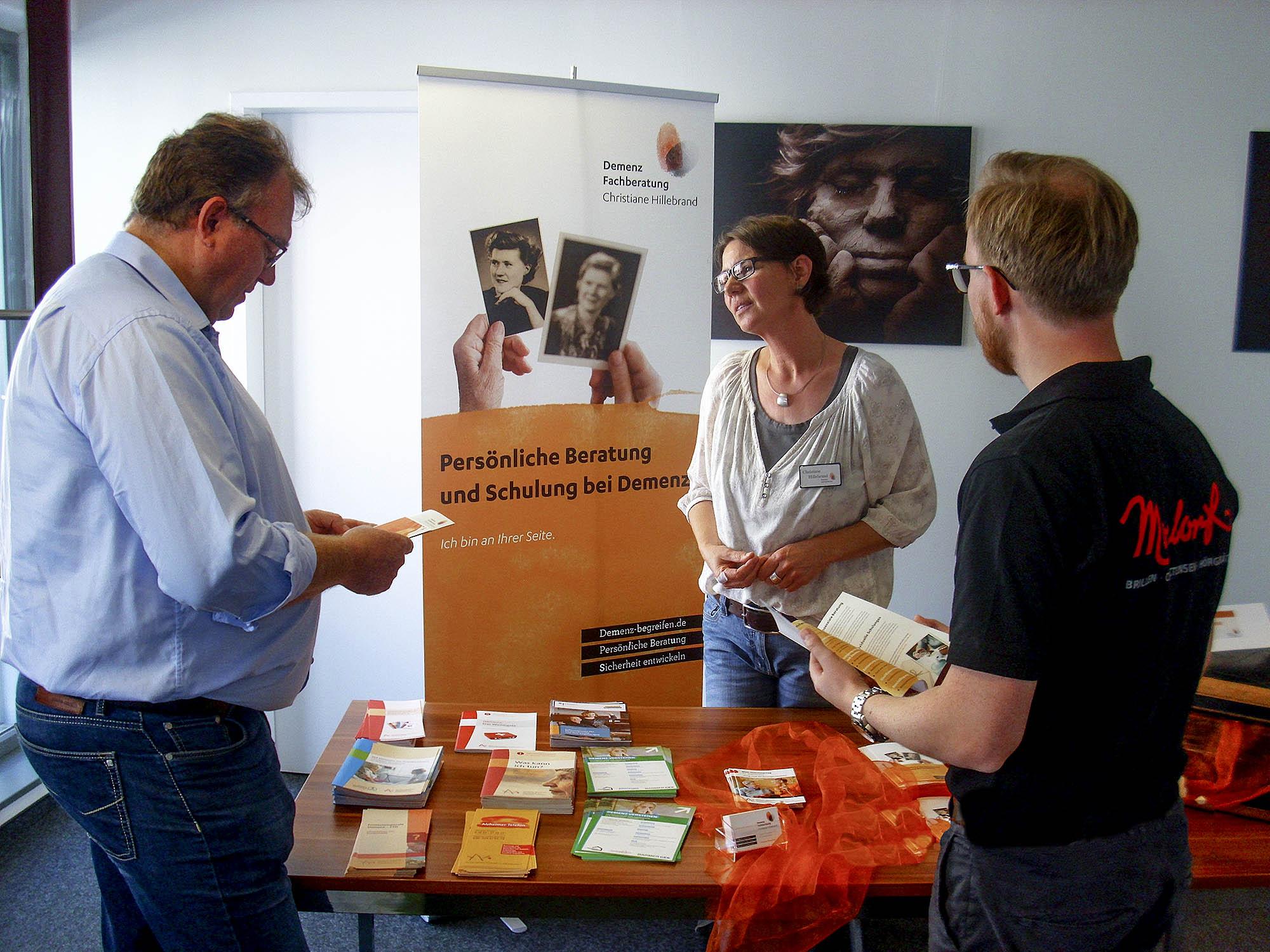 Christiane Hillebrand auf dem ersten Osnabrücker Demenztag